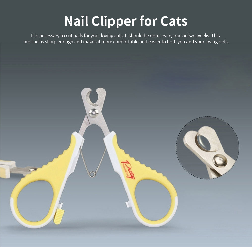High Quality Stainless Steel Nail Clipper for Cats, Pet Grooming Cats Nail Scissors Suitable for Beginners 0