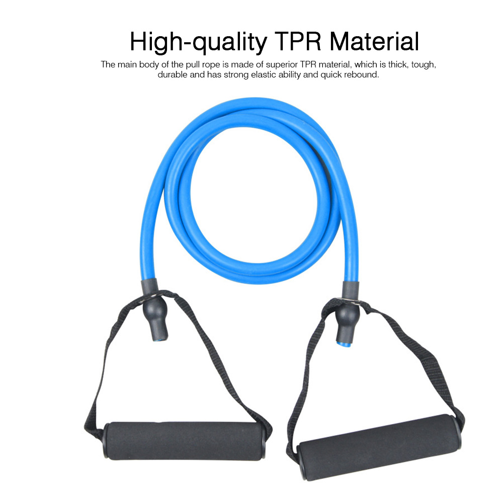 Elastic Rubber TPR Pull Rope Resistance Band, Minimalist Strengthen Fitness Workout Exercise Plastic Tube 1