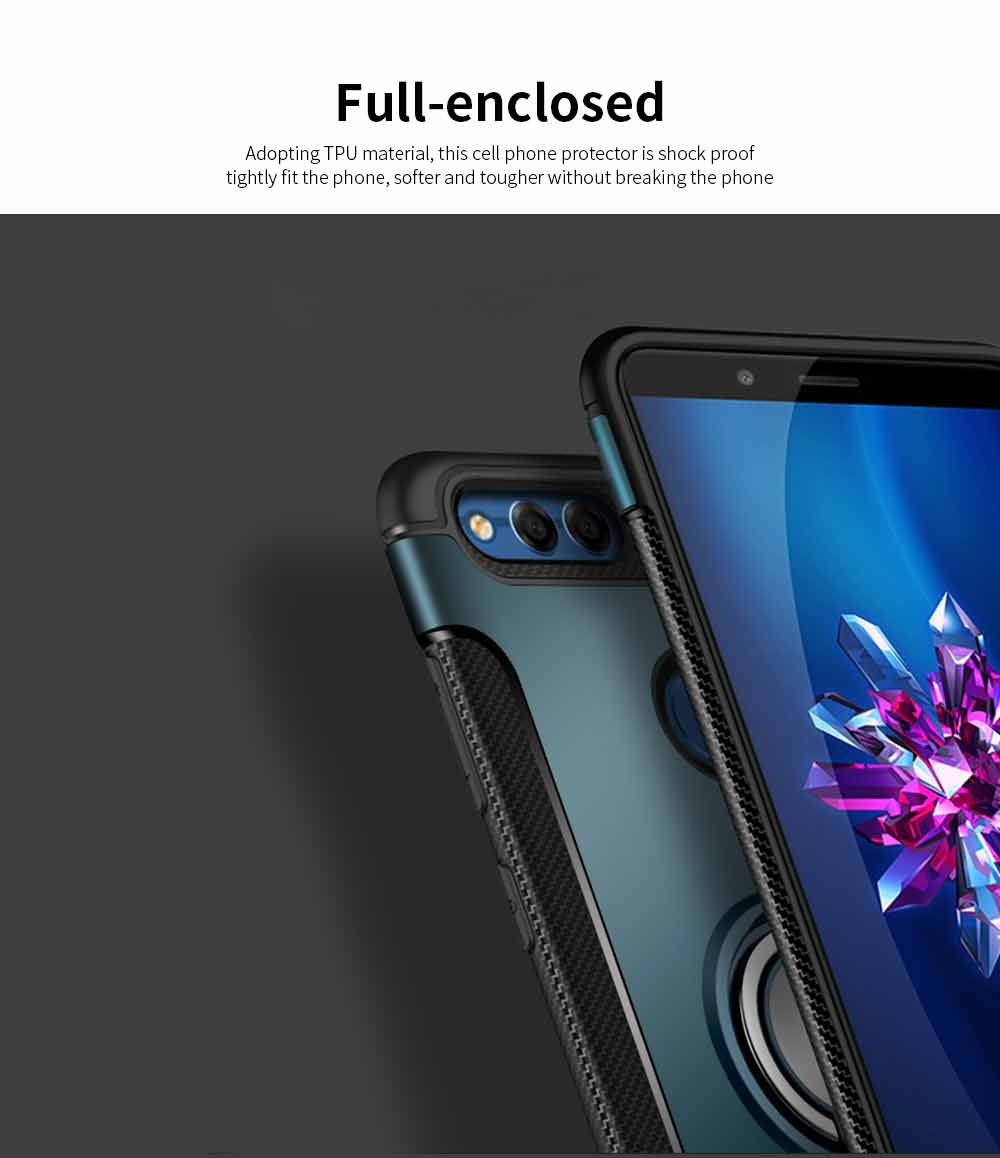 Creative Shock-resistant Cell Phone Protector for Huawei Honor/P20/mate 10/nova 3e, High Quality Silicone Phone Case with Metal Sheet for Magnetic Car Mount 6