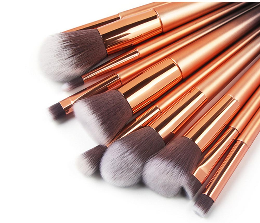 Stylish Gradient 10PCS Professional Cosmetic Brushes Set, Soft Bristle Makeup Brushes Suits with Fashion Paint Handle 6