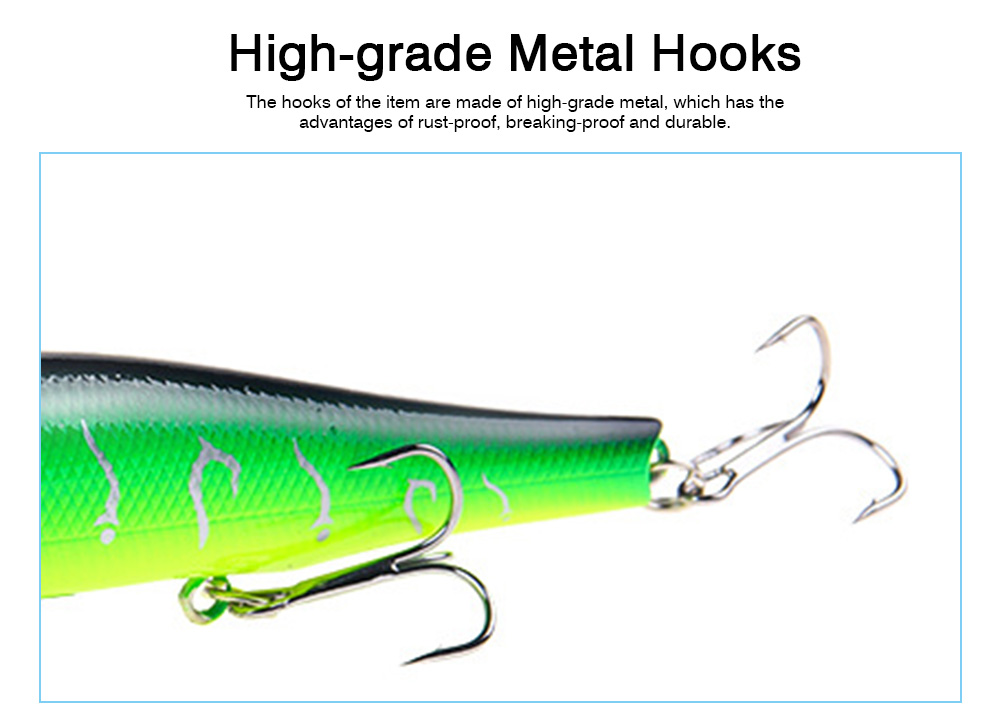 Artificial Fishing Lures Bait Tackle with Magnet Weight System, Delicate Mock Fish Model Minnow Crank Bait Bass 8