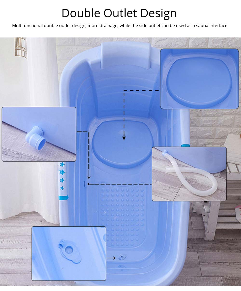 Thick Plastic Adult Bath Barrel, Children's Home Bath Barrel, Adult Body Oversized Bath Tub 4