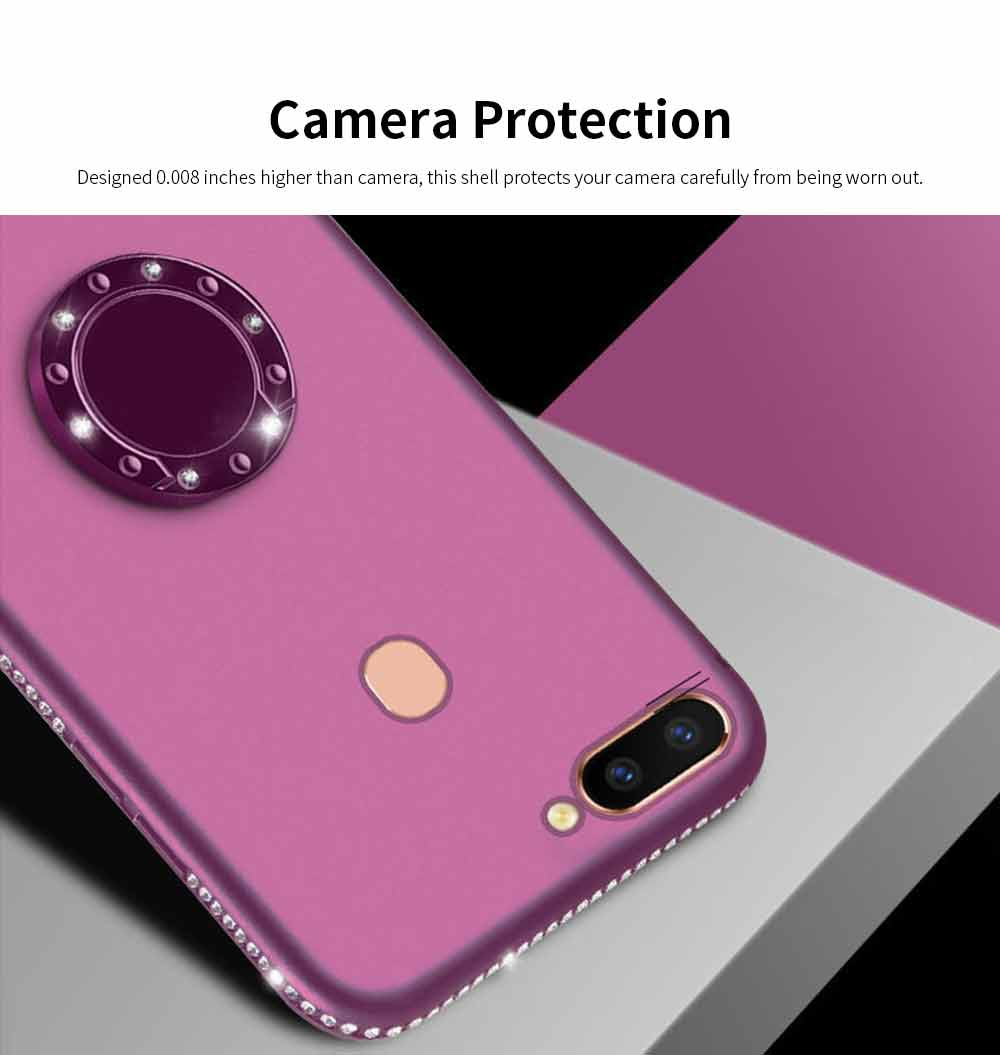 Shock-resistant Mobile Phone Protector for OPPO r9s, r11s, r15, Fashionable TPU Cell Phone Case Support 3