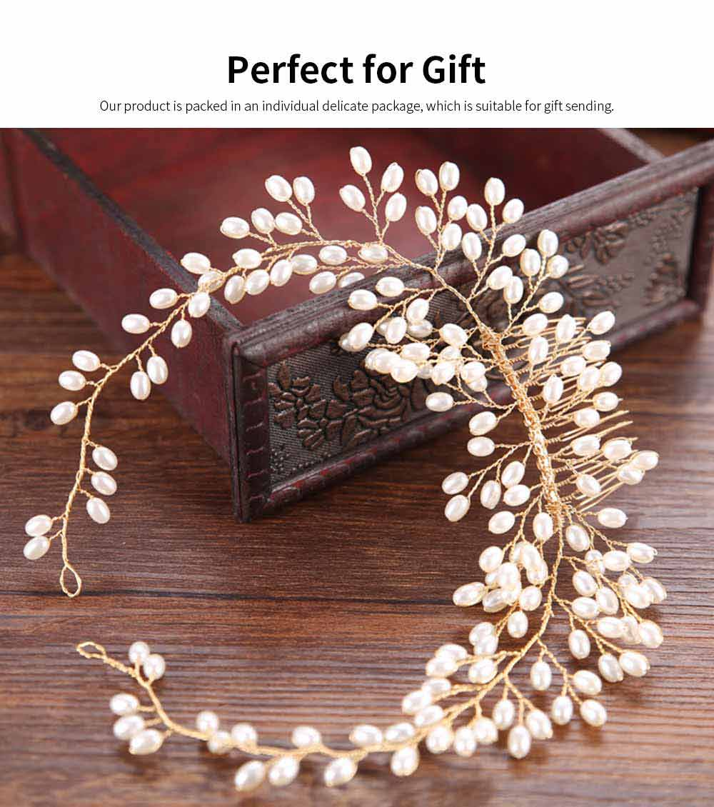 Latest Euramerican Style Hairpin for Brides, Pearl Hair Decoration In Vogue, Tuck Comb Accessories for Wedding Dress 4