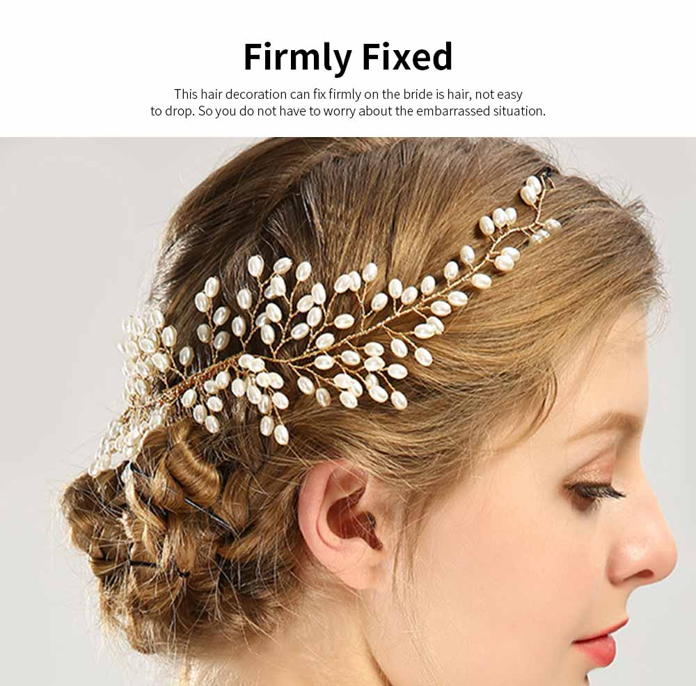 Latest Euramerican Style Hairpin for Brides, Pearl Hair Decoration In Vogue, Tuck Comb Accessories for Wedding Dress 3