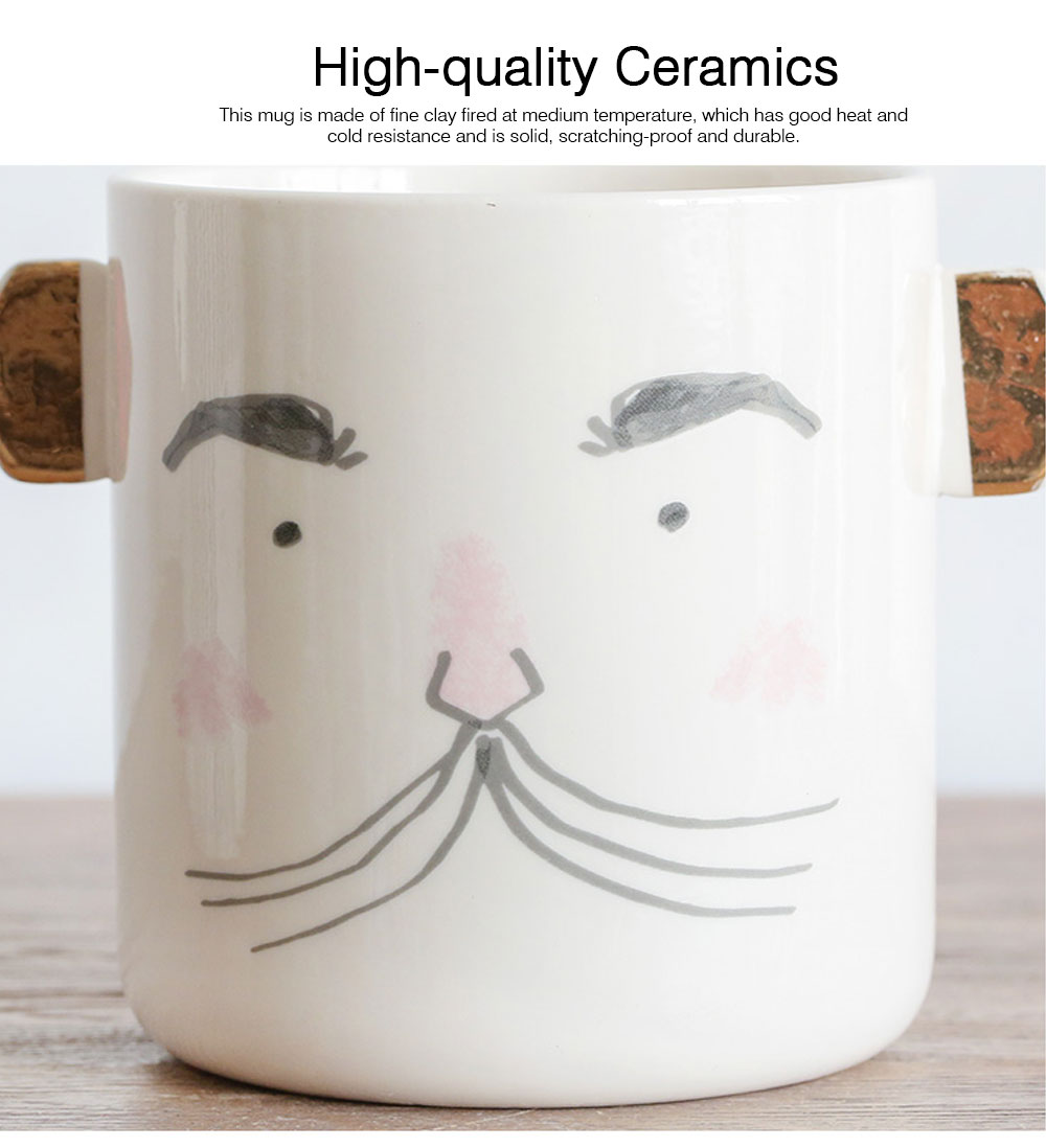 Funny Cute Expression Painting Ceramics Mug, Unique Stylish Household Water Coffee Breakfast Cup 1