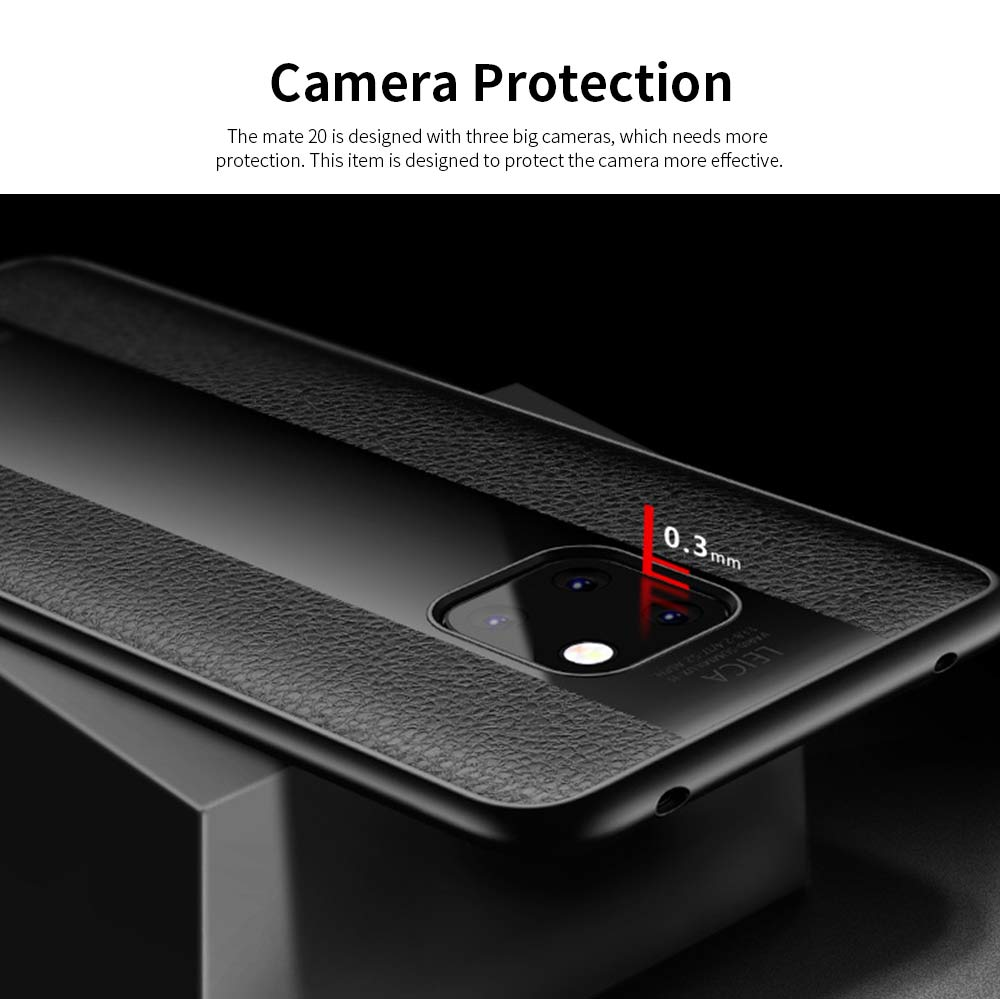 High Quality Fashionable Cell Phone Protector for Huawei, iPhone, Samsung, Stitching PU Texture Shatter-resistant Mobile Phone Shell 2