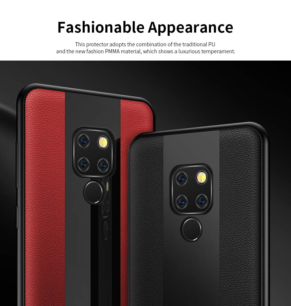 High Quality Fashionable Cell Phone Protector for Huawei, iPhone, Samsung, Stitching PU Texture Shatter-resistant Mobile Phone Shell 3