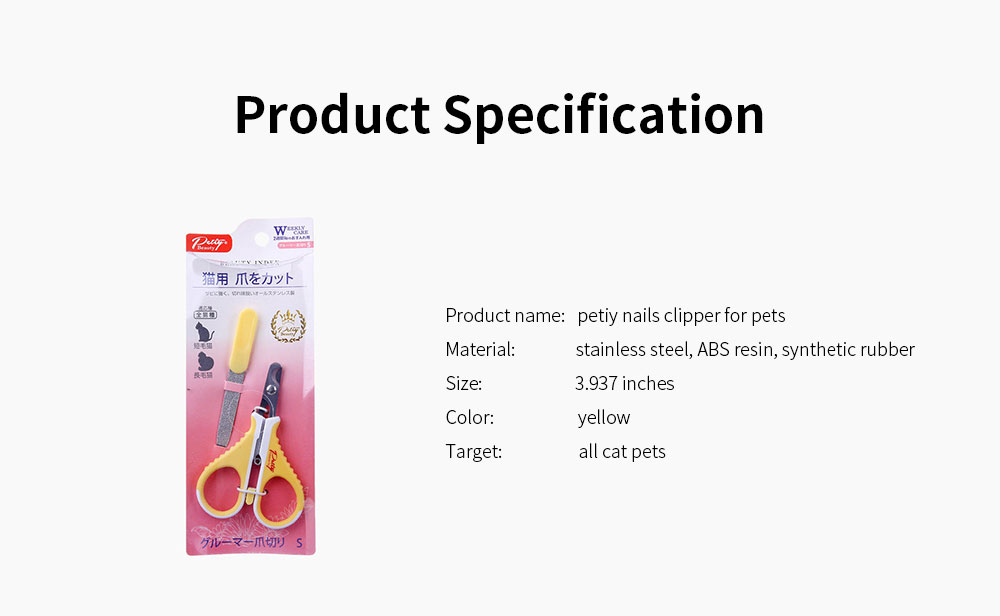 High Quality Stainless Steel Nail Clipper for Cats, Pet Grooming Cats Nail Scissors Suitable for Beginners 5