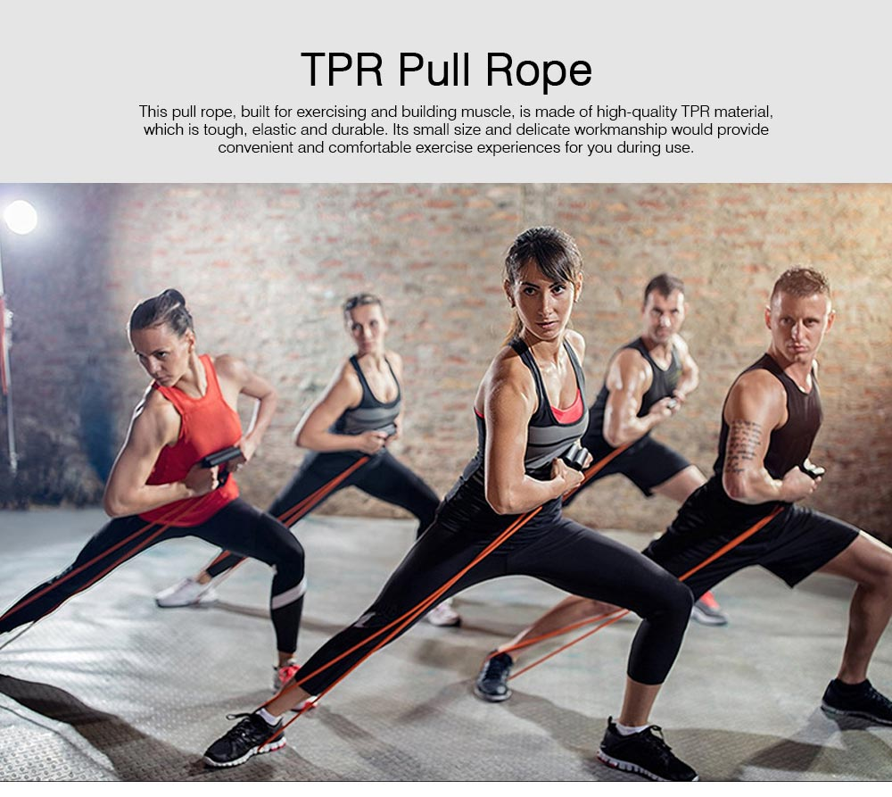 Elastic Rubber TPR Pull Rope Resistance Band, Minimalist Strengthen Fitness Workout Exercise Plastic Tube 0