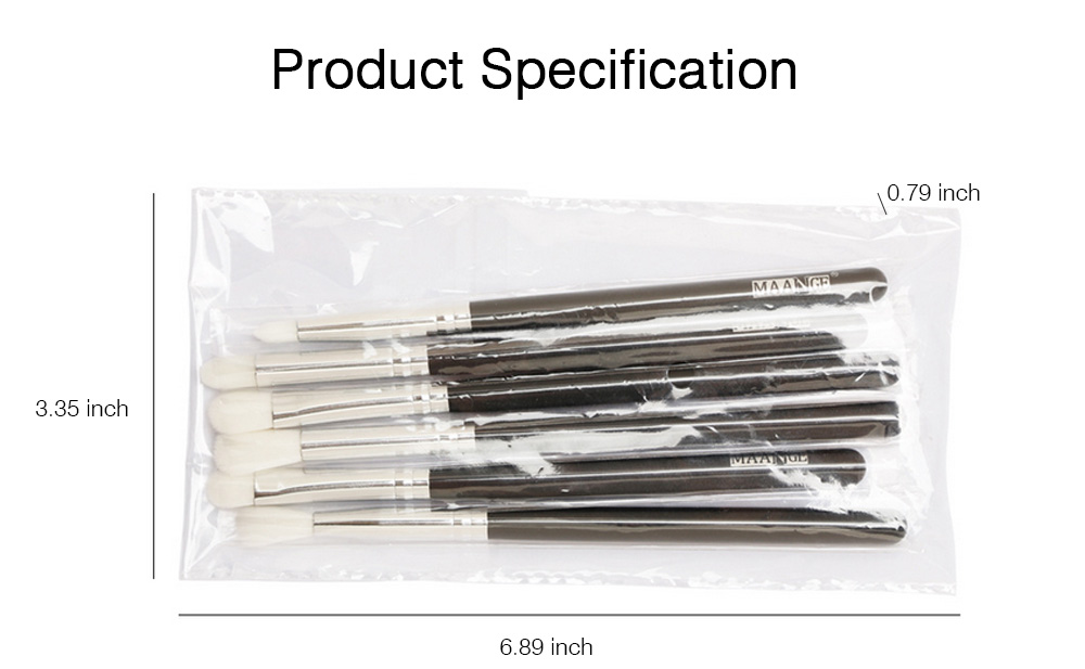 Delicate Professional Makeup Eye Shadow Brushes Suit, Minimalist 6PCS Wooden Multiple Eye Brushes Set 6