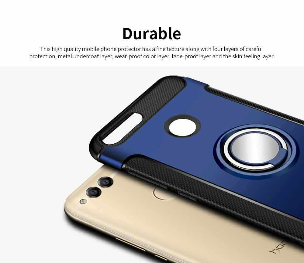 Creative Shock-resistant Cell Phone Protector for Huawei Honor/P20/mate 10/nova 3e, High Quality Silicone Phone Case with Metal Sheet for Magnetic Car Mount 5