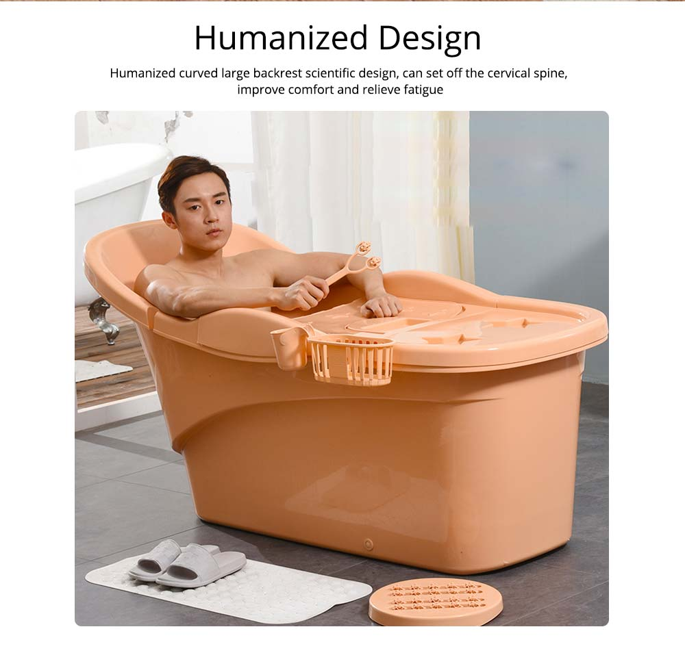 Thick Plastic Adult Bath Barrel, Children's Home Bath Barrel, Adult Body Oversized Bath Tub 1