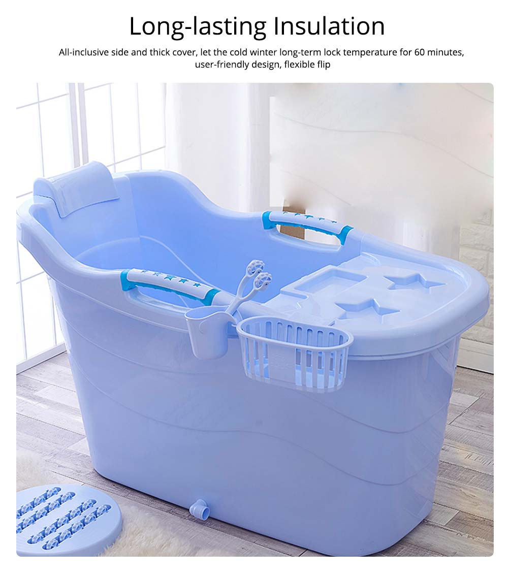 Thick Plastic Adult Bath Barrel, Children's Home Bath Barrel, Adult Body Oversized Bath Tub 3