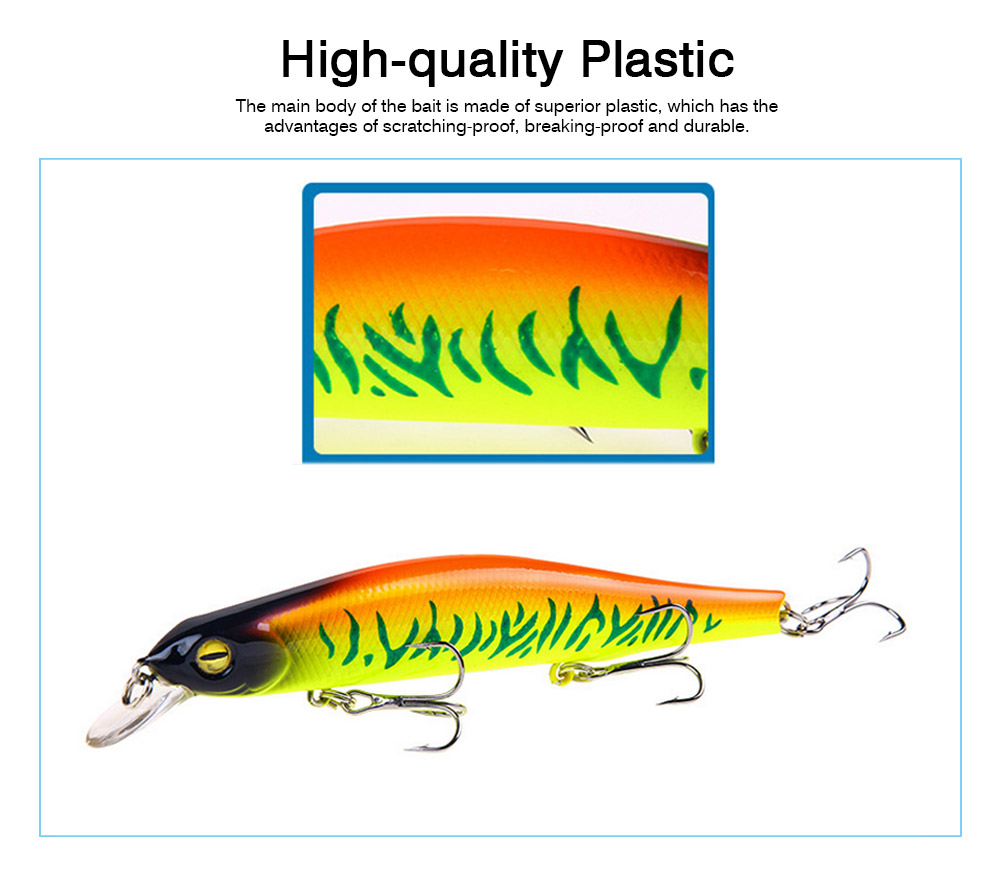 Artificial Fishing Lures Bait Tackle with Magnet Weight System, Delicate Mock Fish Model Minnow Crank Bait Bass 7