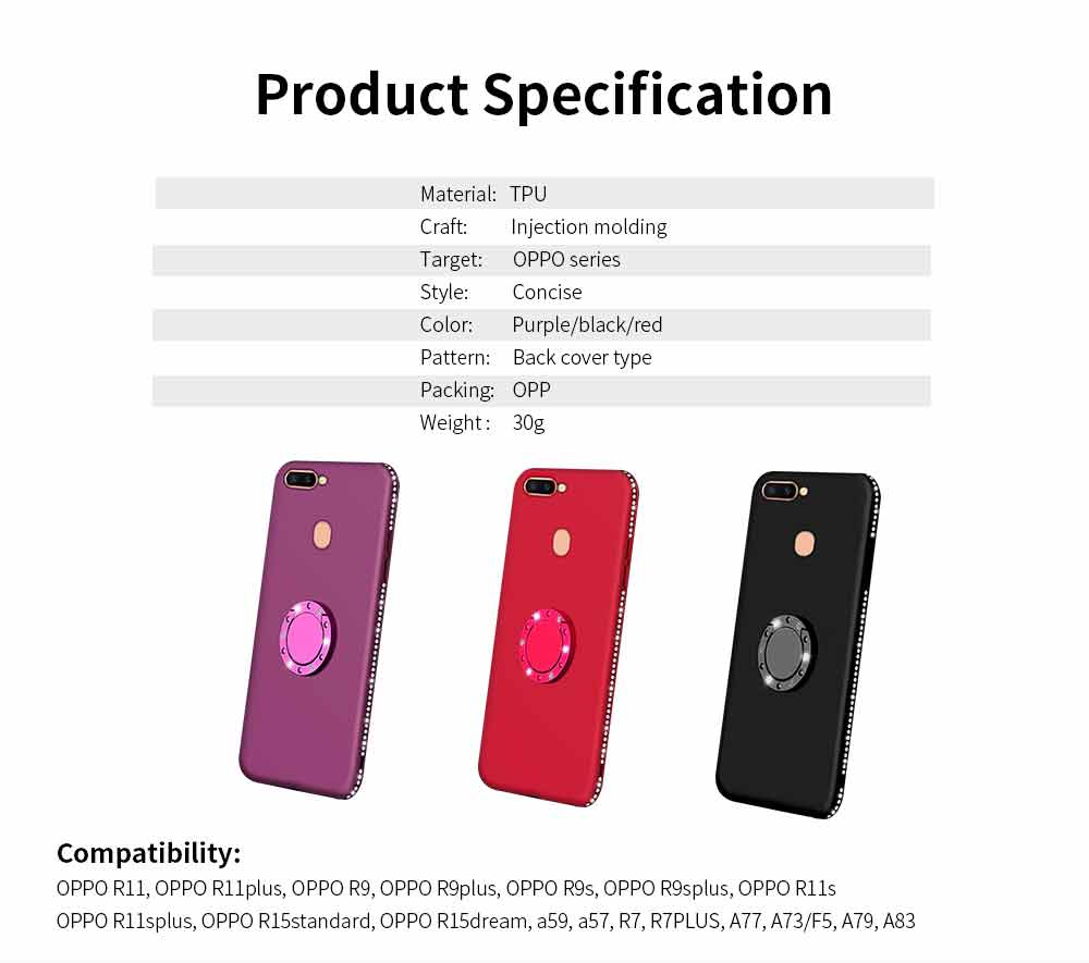 Shock-resistant Mobile Phone Protector for OPPO r9s, r11s, r15, Fashionable TPU Cell Phone Case Support 7