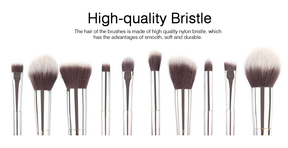 Stylish Gradient 10PCS Professional Cosmetic Brushes Set, Soft Bristle Makeup Brushes Suits with Fashion Paint Handle 1