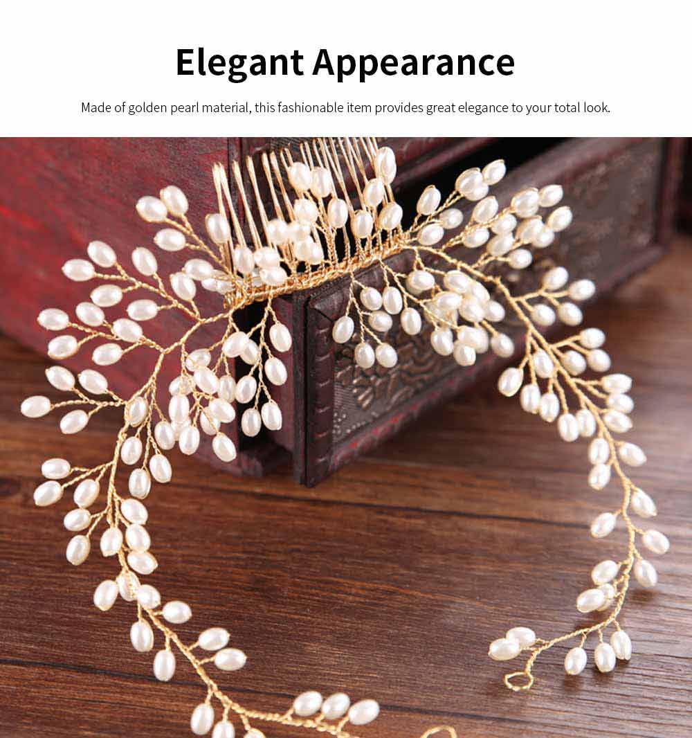 Latest Euramerican Style Hairpin for Brides, Pearl Hair Decoration In Vogue, Tuck Comb Accessories for Wedding Dress 1