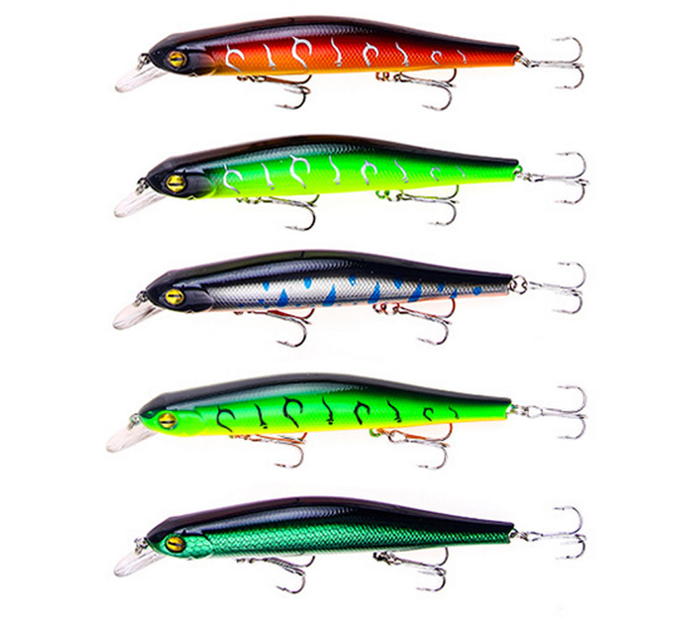 Artificial Fishing Lures Bait Tackle with Magnet Weight System, Delicate Mock Fish Model Minnow Crank Bait Bass 11