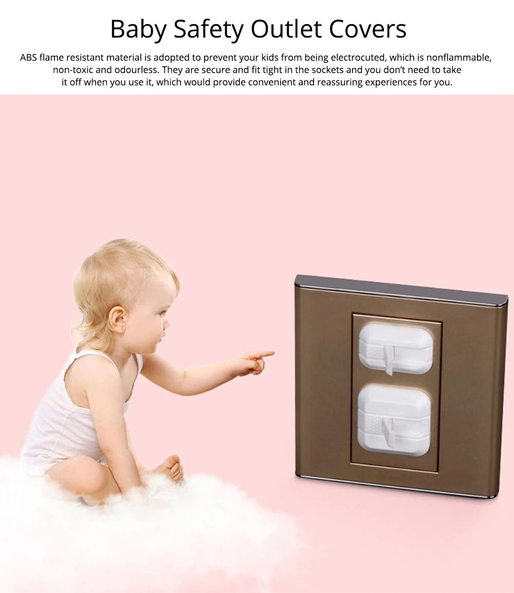 Baby Safety Outlet Cover, Electric-Shock Safeguard, Hard Plug Covers, Socket Covers for Baby Kid Protection 0
