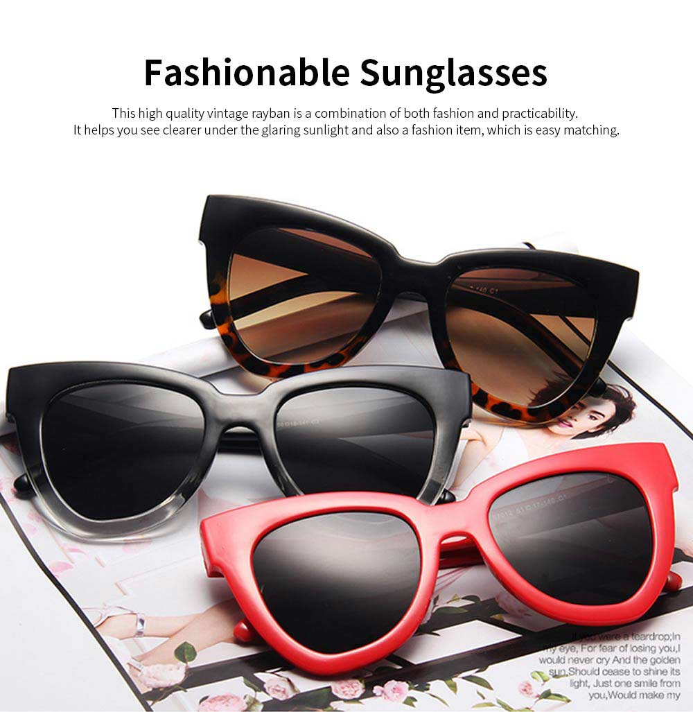 New Style Vintage Sunglasses, High Quality Fashionable Easy Matching Cateye Rayban for Summer 0