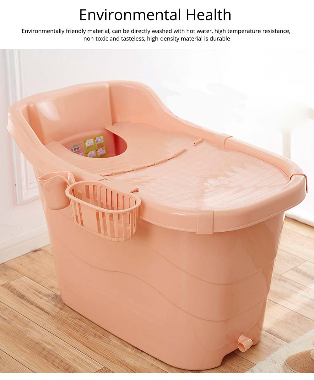 Thick Plastic Adult Bath Barrel, Children's Home Bath Barrel, Adult Body Oversized Bath Tub 5