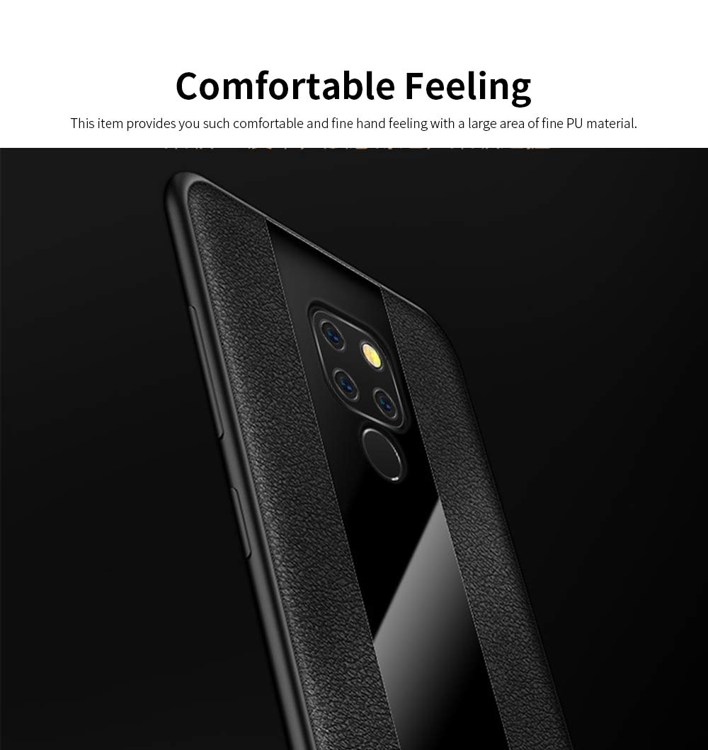 High Quality Fashionable Cell Phone Protector for Huawei, iPhone, Samsung, Stitching PU Texture Shatter-resistant Mobile Phone Shell 4