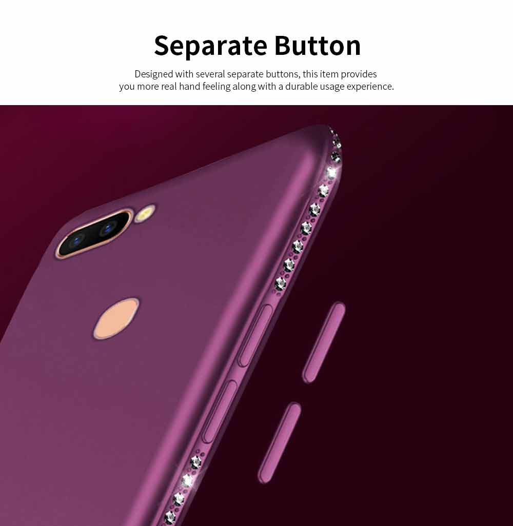 Shock-resistant Mobile Phone Protector for OPPO r9s, r11s, r15, Fashionable TPU Cell Phone Case Support 6