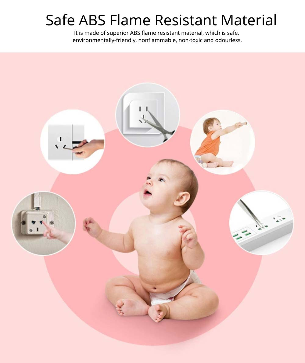 Baby Safety Outlet Cover, Electric-Shock Safeguard, Hard Plug Covers, Socket Covers for Baby Kid Protection 1