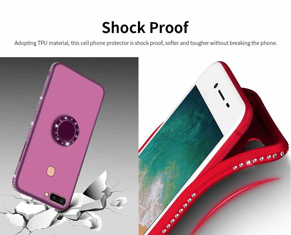 Shock-resistant Mobile Phone Protector for OPPO r9s, r11s, r15, Fashionable TPU Cell Phone Case Support 5
