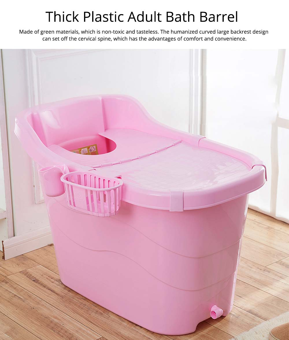 Thick Plastic Adult Bath Barrel, Children's Home Bath Barrel, Adult Body Oversized Bath Tub 0