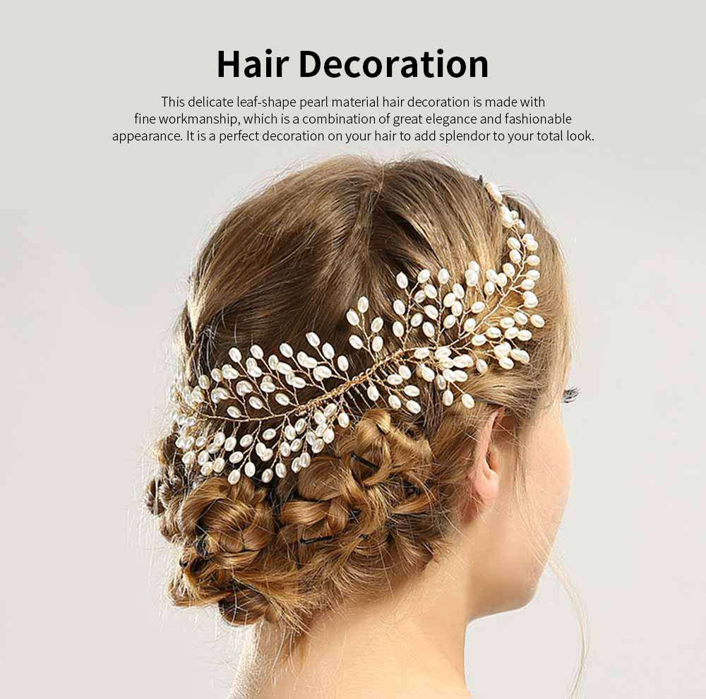 Latest Euramerican Style Hairpin for Brides, Pearl Hair Decoration In Vogue, Tuck Comb Accessories for Wedding Dress 0