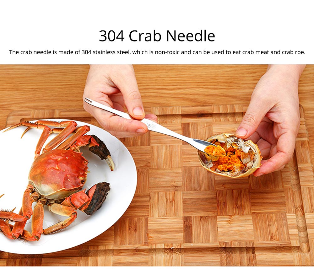 Eating Crab Tool 304 Stainless Steel Three Piece Suit Eating Hairy Crab Leg Crab Needle Kitchen Tool Gift Box Packing 7