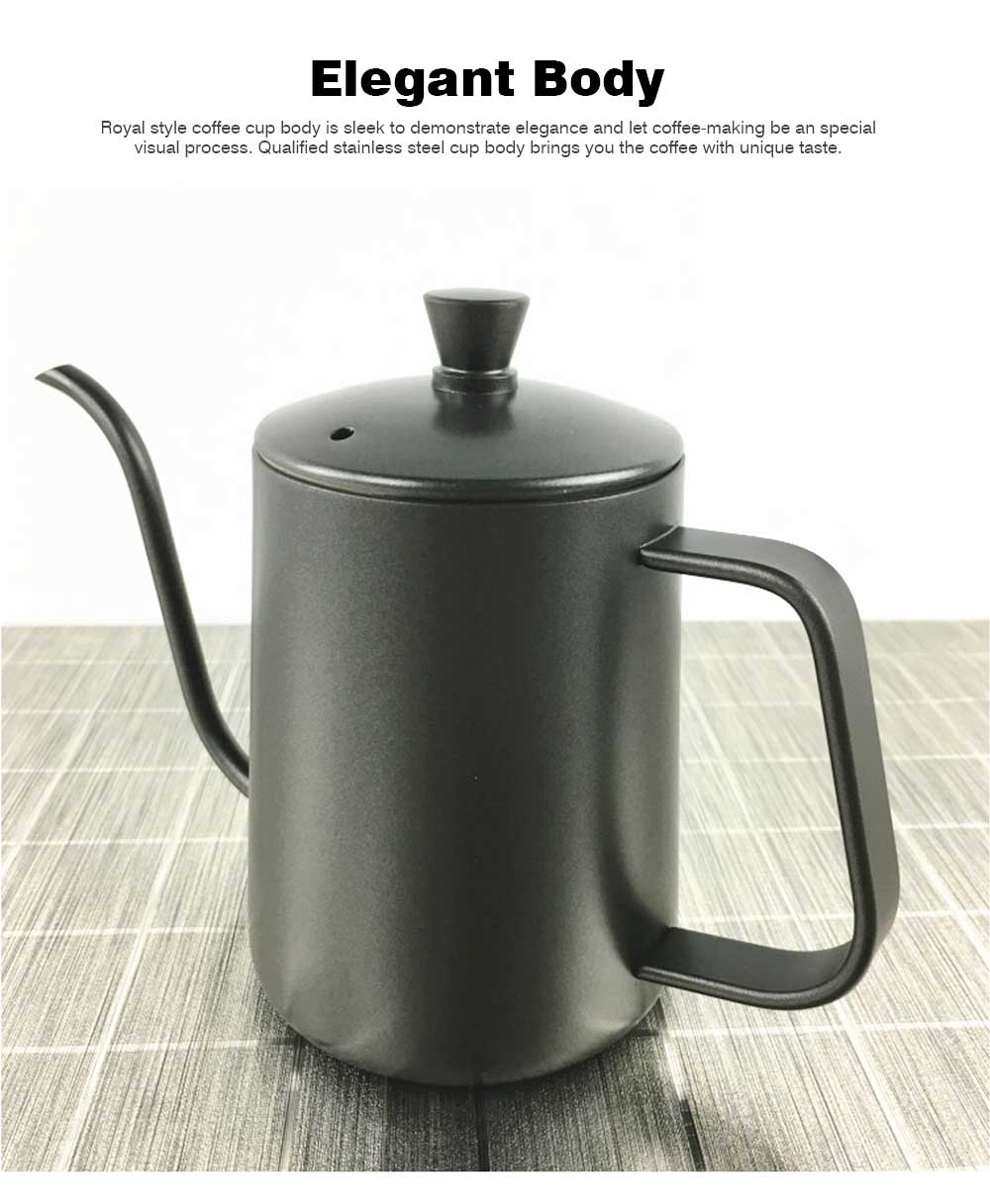 New-style Coffee Pot with Cover for 600ML Capacity Drip Coffee Maker Coffee Cup Teflon Hand Drip Coffee Urn 3