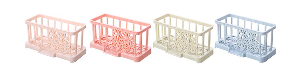 Storage Holder Durable Organizer Shelf for Kitchen Household Plastic Detachable Drying Rack 3