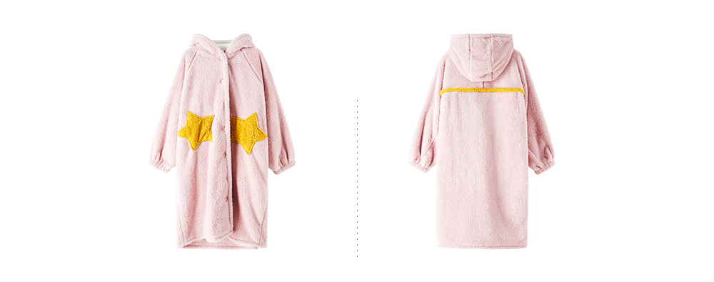 Nightclothes Breathable Sleepwear Long Style for Women Girl Flannel Winter Pajamas 11