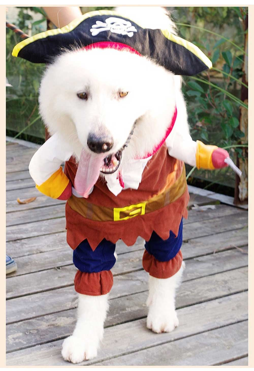 Pirate Costume for Dogs, Halloween Days Dog Clothes Pet Costumes  8