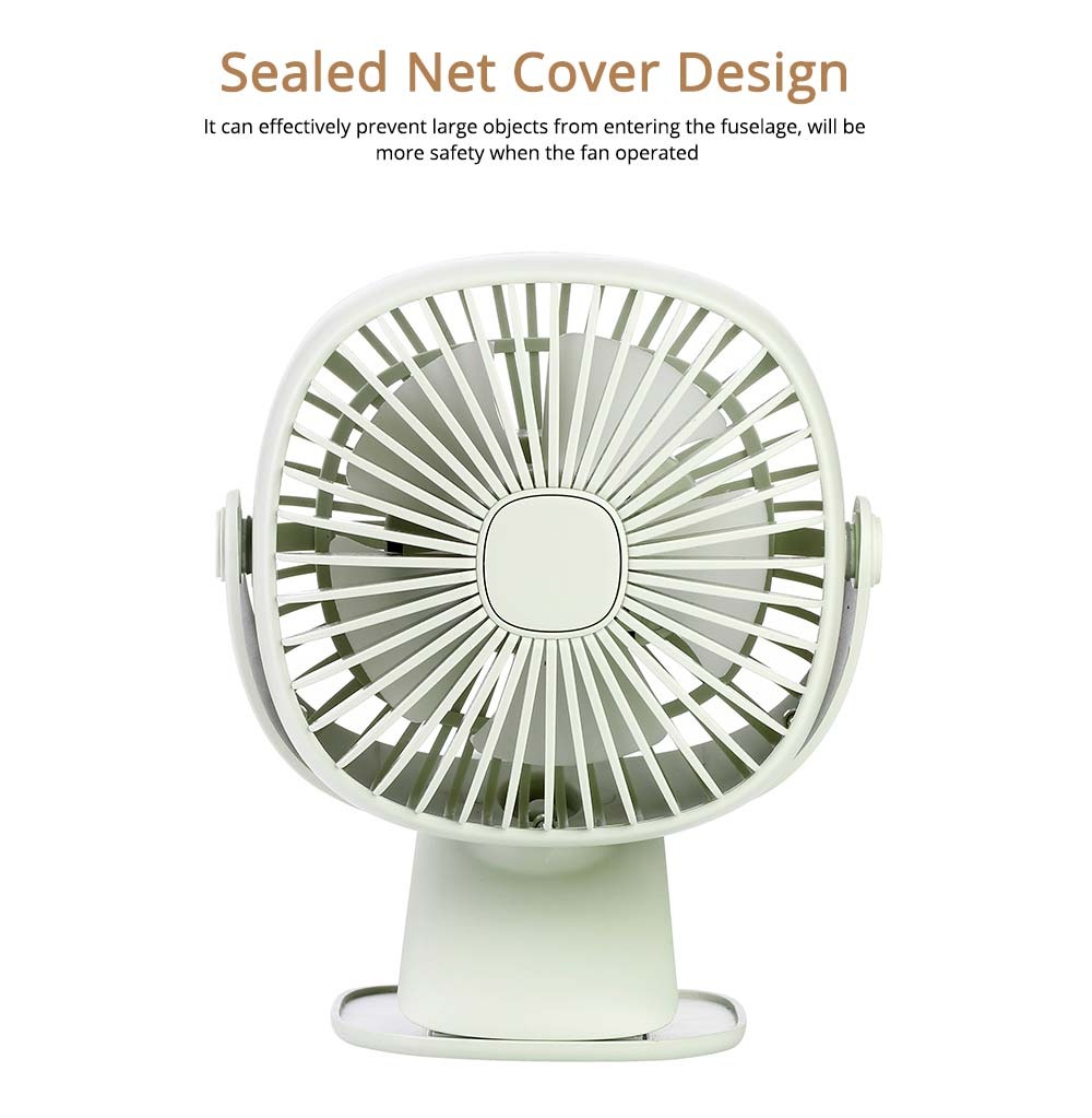 Rechargeable Portable Fan Table Clip Desk 360 Degree Rotation USB Electric Mini Fan with Lithium Cooling Battery 2
