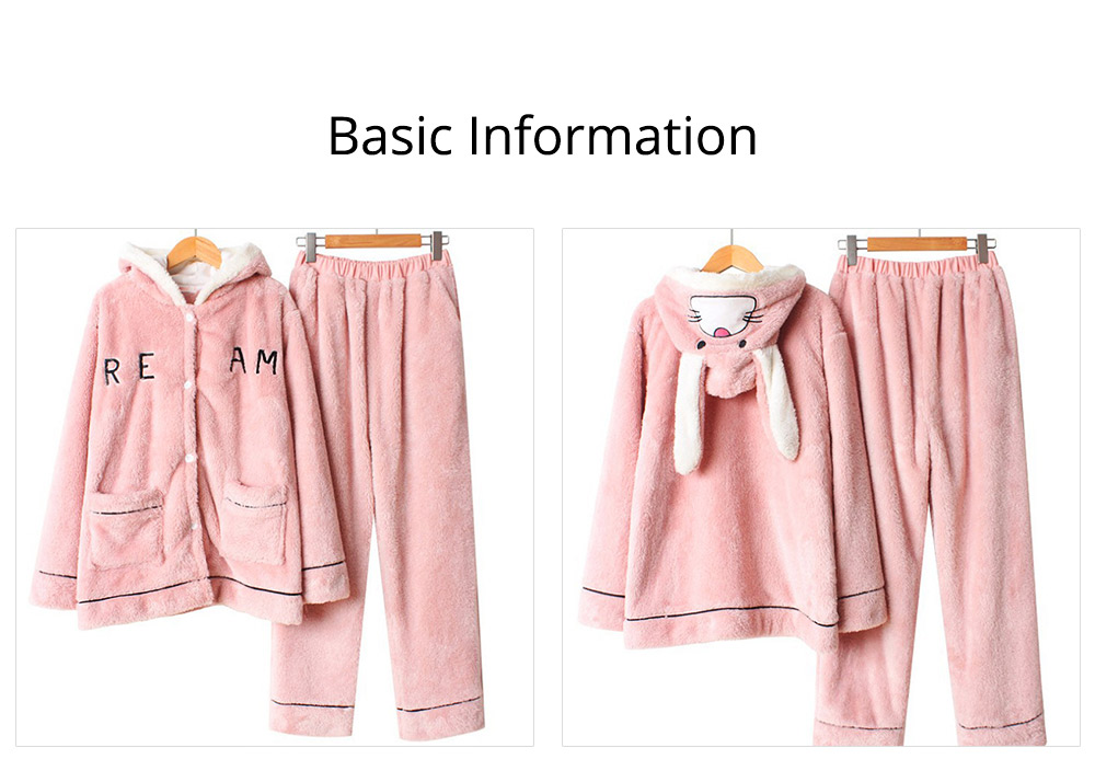 Sleepwear Lovable Nightgown for Couples Girl Boy Men with Thick Coral Velvet Bundle Pajamas Winter 6