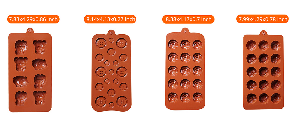 Chocolate Mold Creative Silicone Mould Candy Pudding Jelly Ice Grid Dessert Bake Mould Durable Easy Release 8