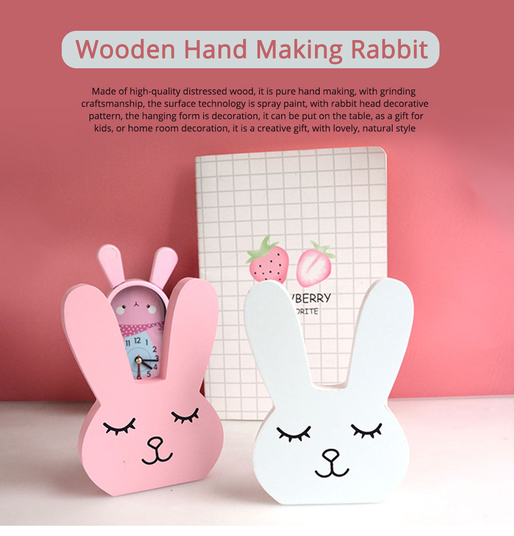 Wooden Hand Making Rabbit Best Gifts for Kids on Table, Home Decoration, Living Room, Bedroom 0