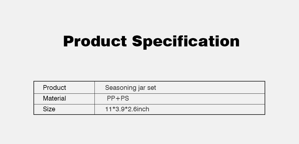 Beige Transparent Seasoning Jar with Spoon, High-grade PP + PS Flip Four-grip Seasoning Bottle for Home 7