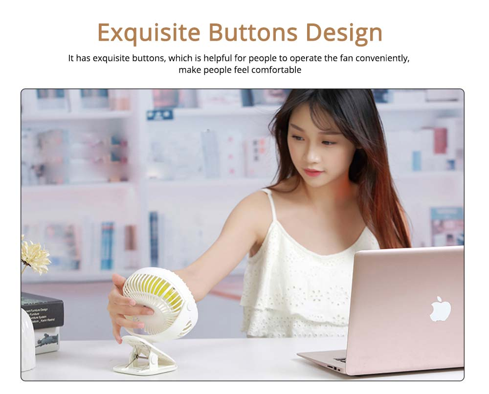 Rechargeable Portable Fan Table Clip Desk 360 Degree Rotation USB Electric Mini Fan with Lithium Cooling Battery 4