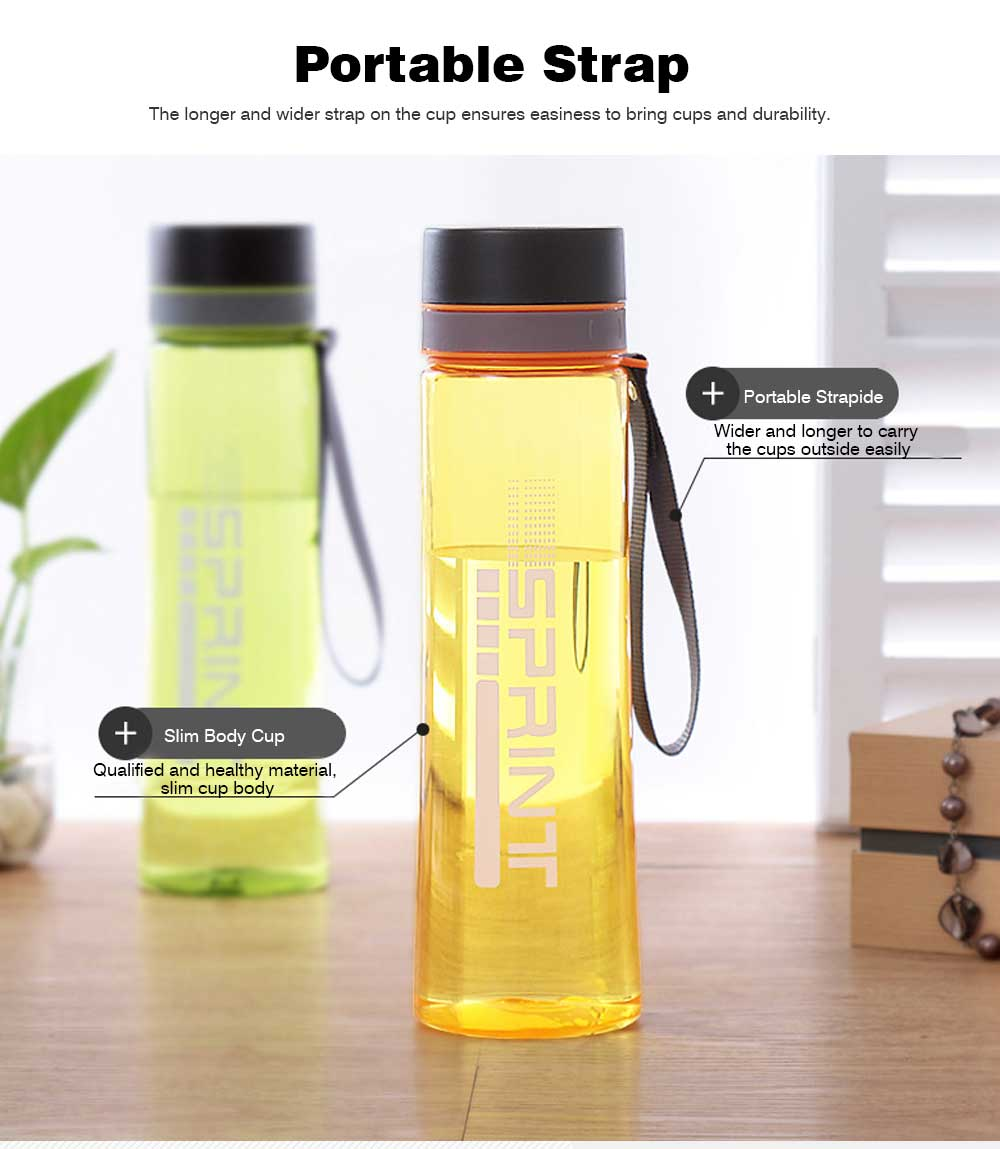 Portable Space Cup with Big Capacity for Students, 1000ml Sports Water Bottle for Outdoor Activities PC Cups 2