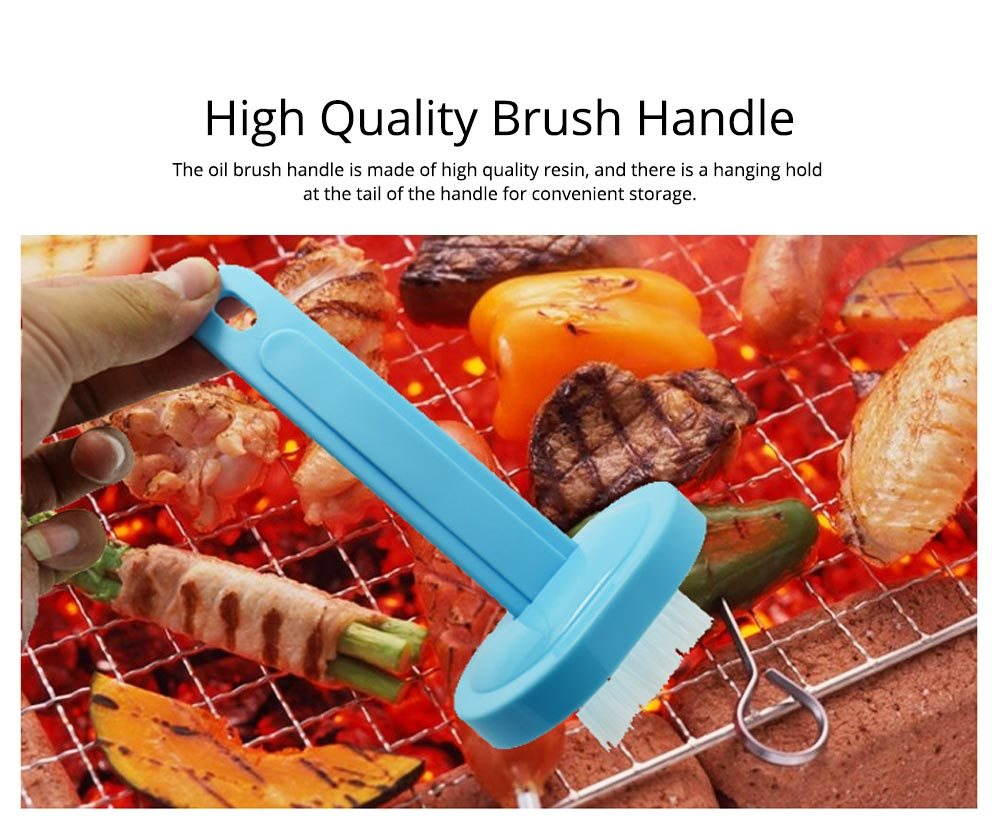 Oil Brush with Pot Container Japanese Cuisine Oil Brush BBQ Bake Tool High Temperature Resistance Oil Brush for Kitchen Household 2