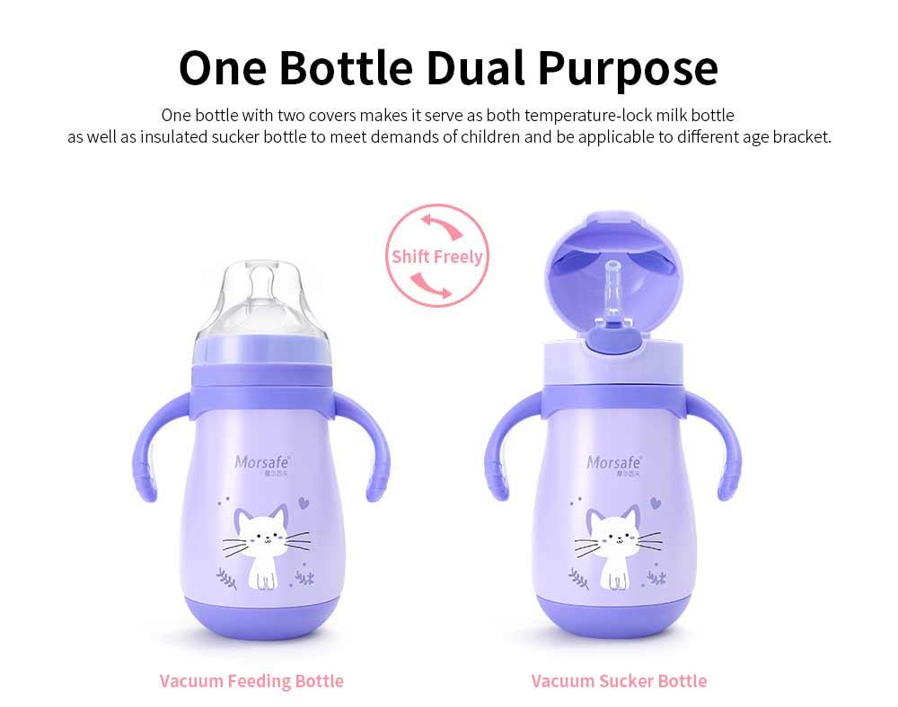 Vacuum Nursing Bottle for Children Feeding 260ml Dual Purpose Feeding Bottle, Stainless Steel Vacuum Cup Feeder Wholesale Nursery 4