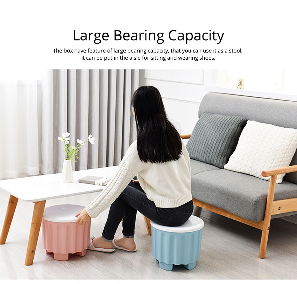 Large Capacity Container PP Material Box Multifunctional for Home Storage Stool 1