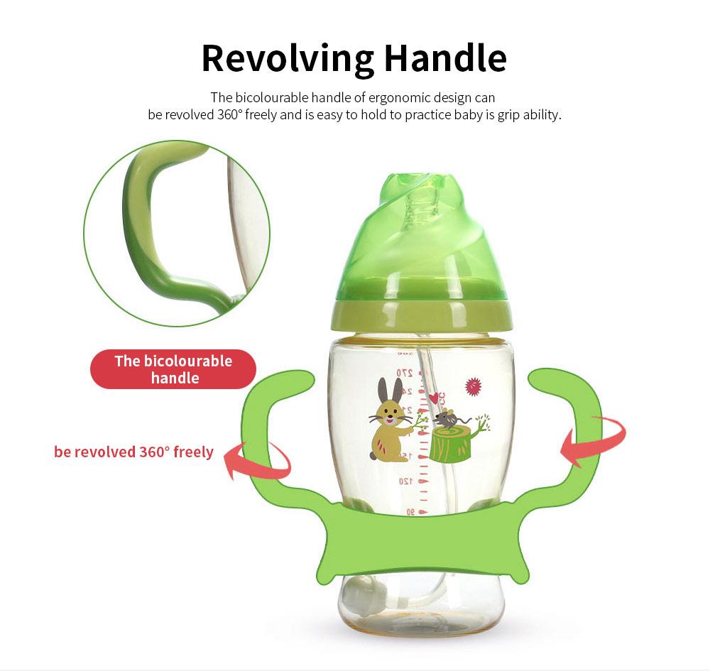 Nurser for New-born Infant Wide Mouth Feeder Avoid Flatulence Baby Care Large-size Nursing Bottle PPSU Anti-impact Feeding Bottle 4