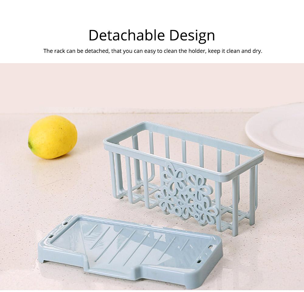 Storage Holder Durable Organizer Shelf for Kitchen Household Plastic Detachable Drying Rack 4