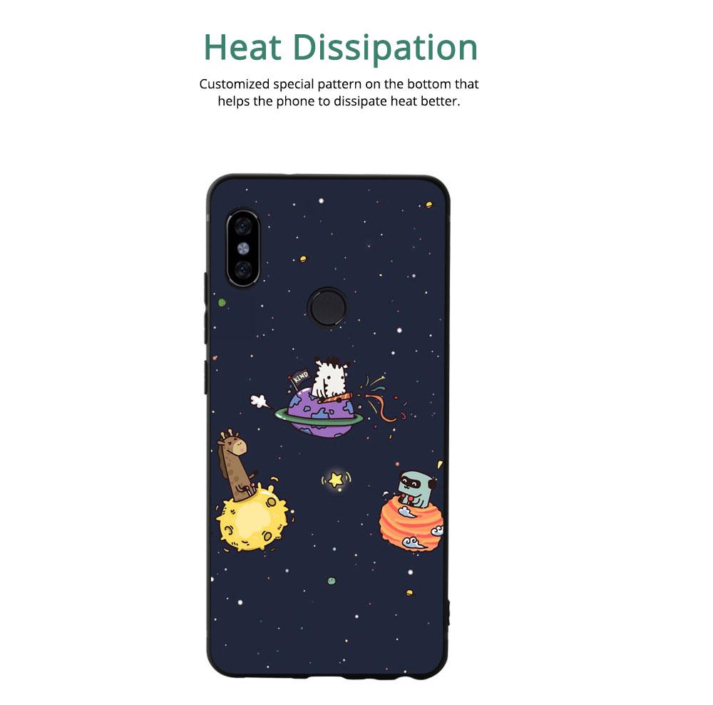 MI Phone Case for MI 8, MI 8 Explorer, MI 8 Lite, MI SE, MI 6X, Fingerprint-resistant Soft Silicone Phone Case Cover, Cartoon MI Protection Case 4